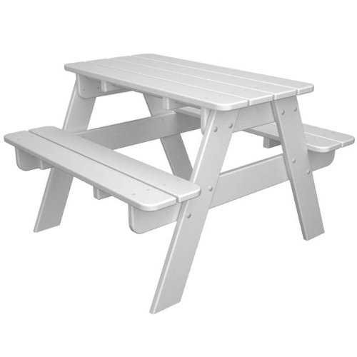 POLYWOOD Kids Outdoor Picnic Table Lemon