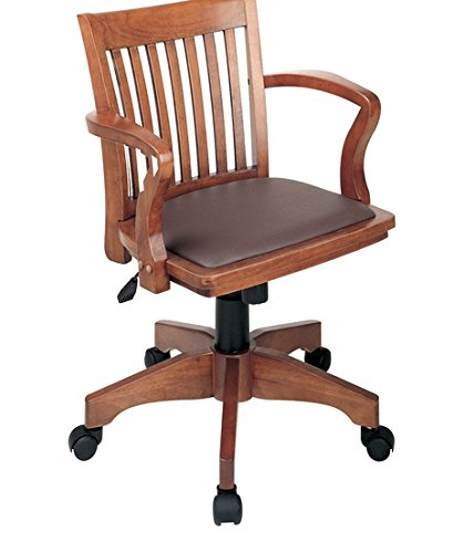 Deluxe Banker's Chair (Fruitwood / Brown) - Fruitwood Collection