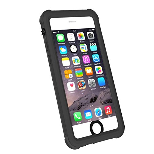 Waterproof Case for iPhone 6/6S, iThrough IP68 Underwater Case Compatible iPhone 6 6S, Dust Drop Snow Shock Proof, Heavy Duty Protective Carrying Integrated Magnetic Cover for iPhone 6 6S(Black)