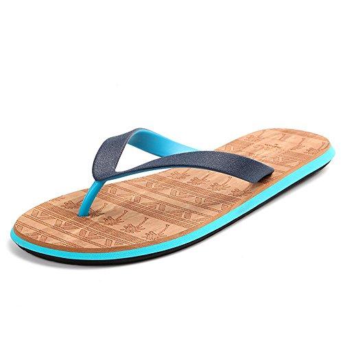 ALUK- beach shoes/sandals Verano - Corea Planos Casual Sandalias De Moda con Zapatos De Playa (Color : La Plata, Tamaño : 39)