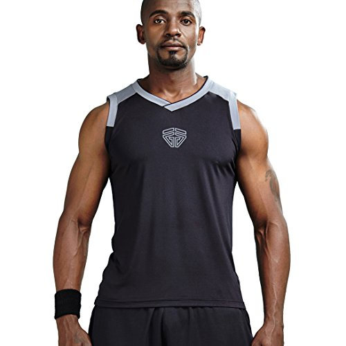 Athletic Tank Tops Essential Muscle Sleeveless T-Shirts(Black S ()