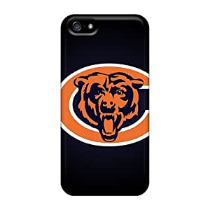 Shock-Absorbing Hard Phone Case For Iphone 5/5s With Allow Personal Design Realistic Chicago Bears Image DustinFrench