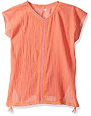 Seafolly Big Girls' Embroidered Kaftan
