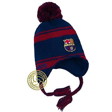 Amazon.com   Barcelona FC Peruvian Chullo Beanie Ski Hat w Pom 489829d7387
