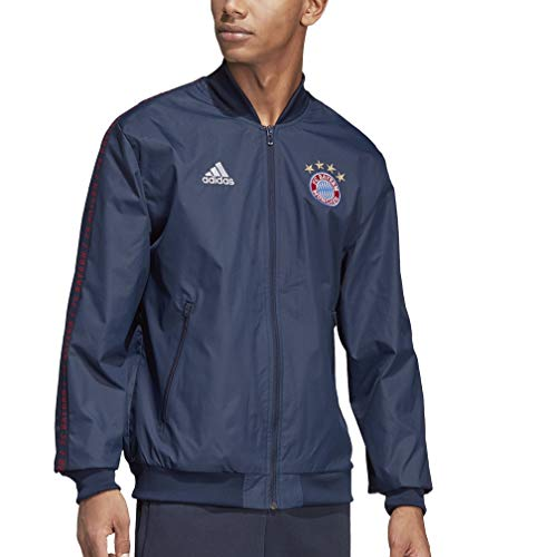 adidas Men's FC Bayern Anthem Jacket (Large) Collegiate Navy