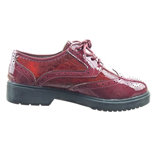Sopily , Damen Schnürhalbschuhe Rot Rosso