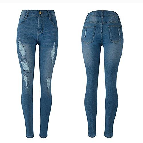 Elásticos Skinny Pantalones Mujer Mezclilla Jean Leggings Jeggings Denim Zarco Boyfriend Distressed Jeans Vaqueros xwHvqgf