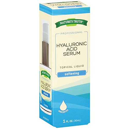 Natures Truth Natures Truth Professional Hyaluronic Acid Serum Softening Unsented, 1 Ounce ()