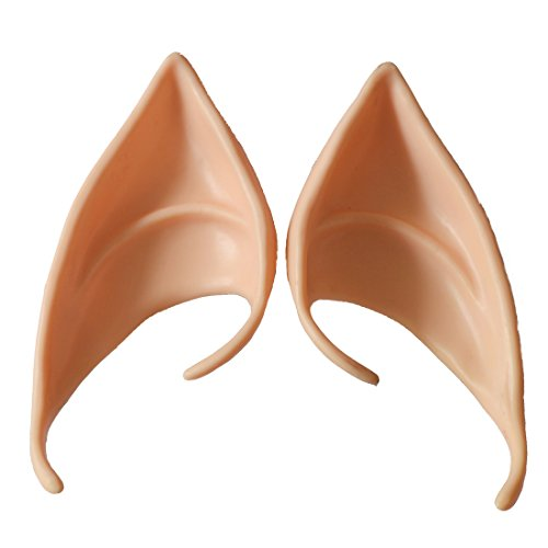 [Probeauty Anime Manga Elf Hobbit Ears Tips Costume - Latex Painted Light (#1)] (Elf Ears Halloween)