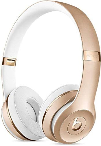 Beats Solo3 Wireless Headphones - On-Ear Bluetooth Headphone, Matte Gold (Renewed)