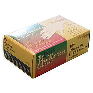 Comfitwear Disposable Latex Gloves Powdered, Medium, 100 Count