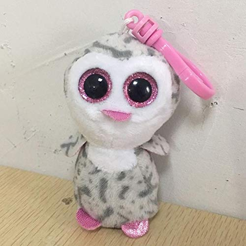 MANGMOC Ty Boos Big Eyes Plush Keychain Toy Doll Fox Owl Dog Unicorn Leopard Monkey Dragon 4
