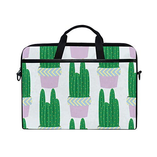 White Echinopsis Cactus Plants Laptop Briefcase,15-15.4 Inch Laptop Bag,Business Office Bag Men Women,Stylish Nylon Multi-Functional Shoulder Messenger Bag Notebook Computer - 2 Hp Tablet Laptop In And 1 White