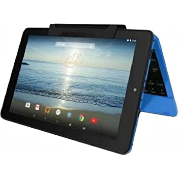 """RCA Viking Pro 10"""" 2-in-1 Tablet 32GB Quad Core Blue Laptop Computer with Touchscreen and Detachable Keyboard Google Android 6.0"""