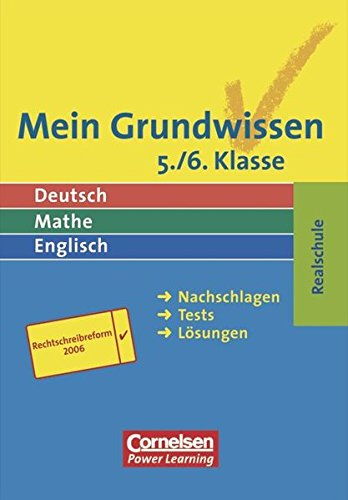 Mein Grundwissen - Realschule - Aktualisierte Ausgabe 2006: 5./6. Schuljahr - Schülerbuch