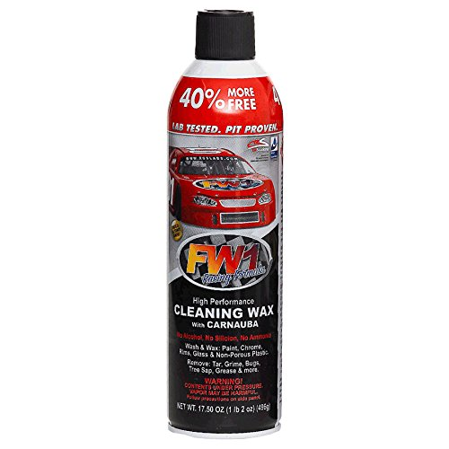 Spray Car Fast Wax (FW1 Waterless Wash & Carnauba Wax Detail Cleaning Polish 17.5oz by Fast Wax (1, Fast Wax))