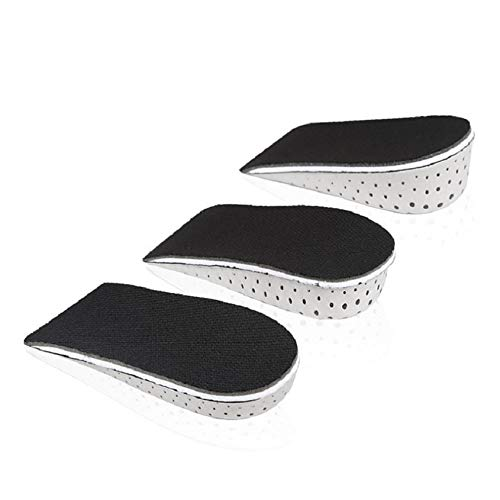 Florencenid 1 Pair Shoe Insoles Half Insole Heighten Heel Insert Sports Shoes Pad Cushion Unisex 2-4cm Height Increase Insoles