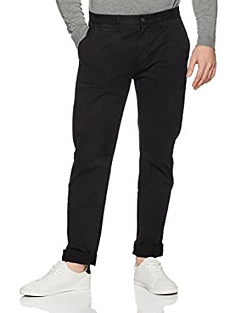 French Connection Men's Roger Regular Chino Pant, Black, 32