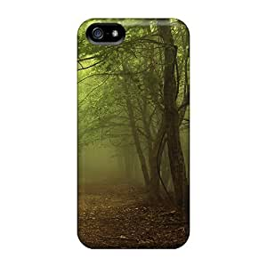 WpNgyBI78eCZoK Snap On Case Cover Skin For Iphone 5/5s(dark Foggy Forest)
