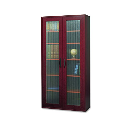 Safco Products 9443MH Apres Modular Storage Tall Cabinet, 2 Door, Mahogany (Office Mahogany Cabinet)