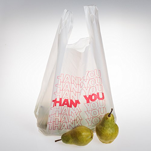 TashiBox Thank You Bags Reusable Grocery Bags - Measures 11.5'' X 6.25'' X 21'', 15mic, 0.6 Mil - 308 Count by TashiBox