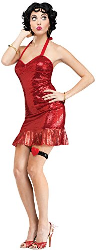 Fun World Costumes Women's Betty Boop (Classic) Adult Costume, Red, X-Small