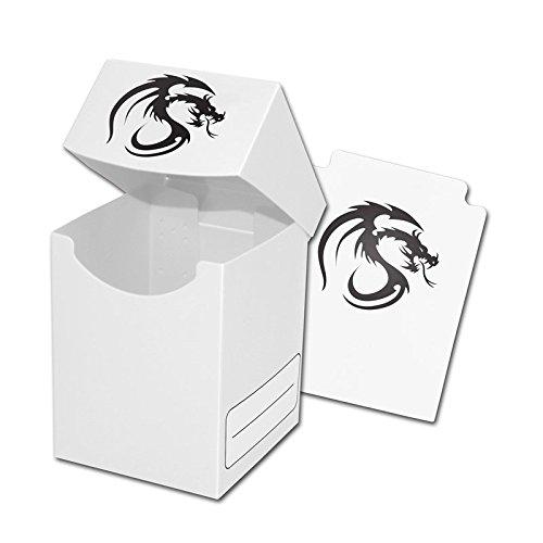 BCW Premium White Deck Box plus 2 Packs of White Double Matt