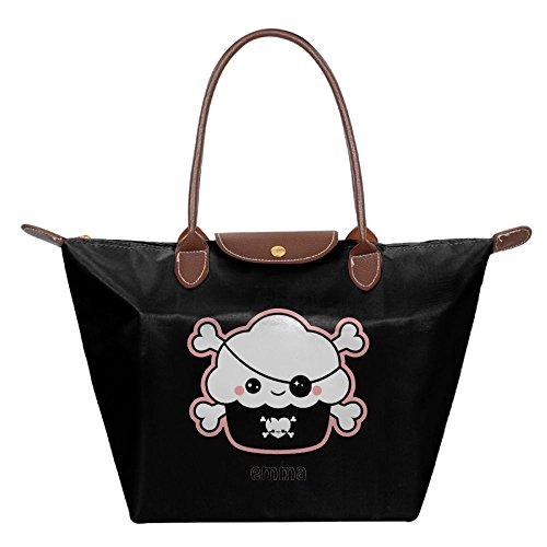Mkajkkok Cute Pirate Cupcake Fashion Ladies Folding Dumpling Bags