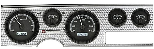 Dakota Digital Dash 70-81 Pontiac Firebird Analog Gauge Cluster Kit Black Alloy White ()