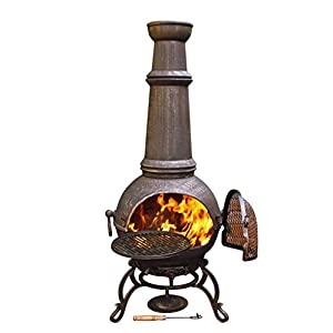 Gardeco Toledo Large Cast Iron Chiminea