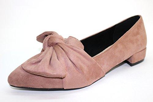 Bailarina ROSA Zapato Plano Lazo lazadas PALO Mocasin TRAPPETO qSdxa1YS