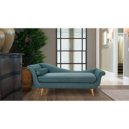 Amazon.com: Brika Home Chaise Lounge in Arctic Blue: Kitchen ...