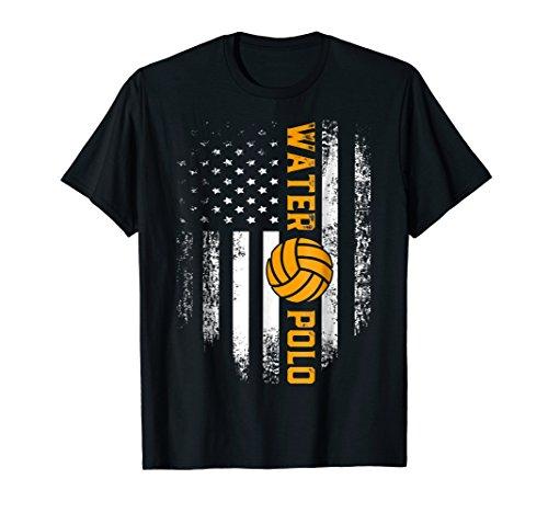 Vintage American USA Flag Water Polo T-Shirt Cool Gift
