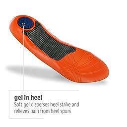 Sof Sole Plantar Fascia Gel Shoe Insole for Heel Spurs and Plantar Fasciitis, Mens 8-12