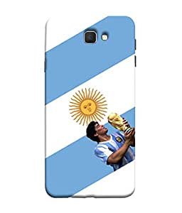 ColorKing Football Maradona Argentina 01 White shell case cover for Samsung J5 Prime