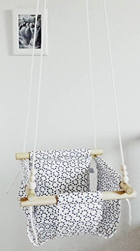Indoor/Outdoor Geometric Sun Fabric Baby Swing by Sweet Swinging