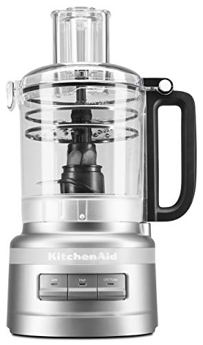 KitchenAid KFP0919CU 9 Cup Plus Food Processor, Contour Silver