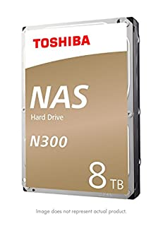 "Toshiba N300 8TB NAS 3.5"" Internal Hard Drive- SATA 6 Gb/s 7200 RPM 128MB (HDWN180XZSTA) (B06Y2TSZBV) 
