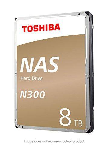 Toshiba N300 8TB NAS 3.5-Inch Internal Hard Drive- SATA 6 Gb/s 7200 RPM 128MB (HDWN180XZSTA)