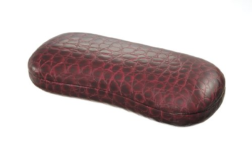 Croco Style Hard Eyeglass Case for Medium to Large Frames for Men Women