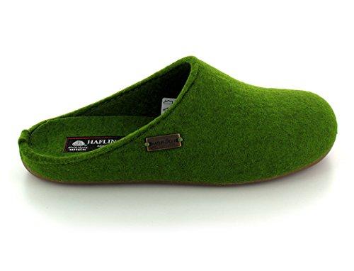 Pantofole Unisex Grigio Basso top Verde Haflinger Adulti Fundus wFvq66Z