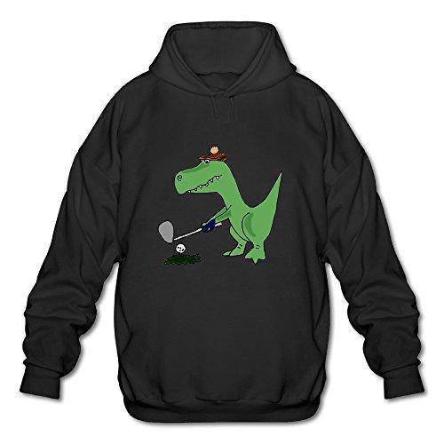 The Lost Boys David Costume (BOOMY Dinosaur Playing Golf Poster Man's Hoodie Sweatshirt SIZE XXL)