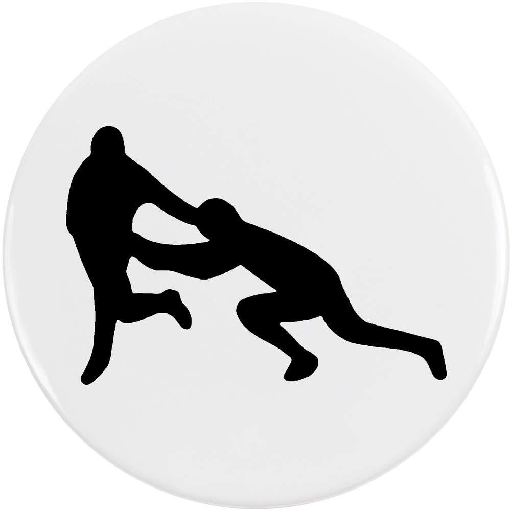Azeeda 77mm 'Rugby Silhouette' Bouton de Badge (BB00047707)
