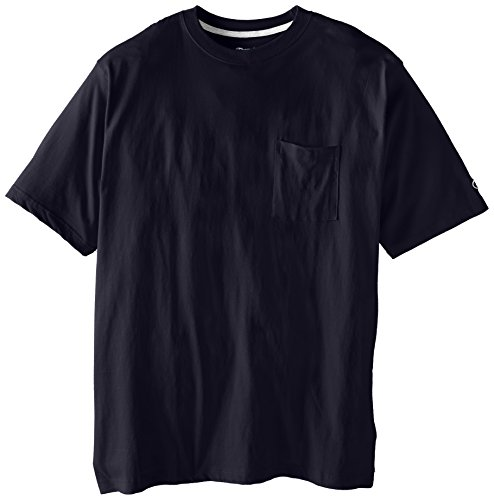 Champion Men's Big-Tall Jersey Pocket T-Shirt, Navy, (Champions Navy Short Sleeve T-shirt)