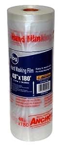 HMF48 48-Inch by 180-Feet Hand Masking Film, Clear