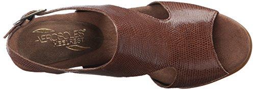 Aerosol Womens Honey Blossom Wedge Sandal Taupe Snake