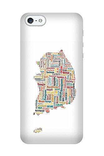 iPhone 4/4S Coque photo - Corée du Sud Carte