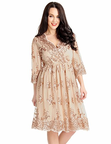LookbookStore Womens Sequin Bridesmaid Cocktail