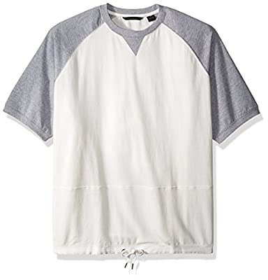 Sean John Men's Big and Tall Short Sleeve Crew Neck W Drawcord