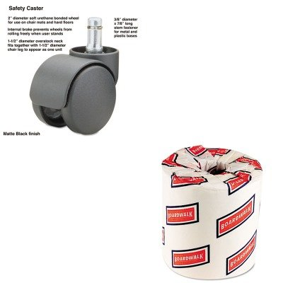 KITBWK6180MAS65535 - Value Kit - Master Caster Safety Casters (MAS65535) and White 2-Ply Toilet Tissue, 4.5quot; x 3quot; Sheet Size (BWK6180)